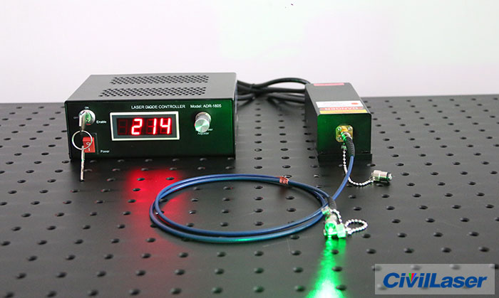 532 nm 500mw Green Fiber Coupled Raman Laser 0.1nm Narrow Linewidth